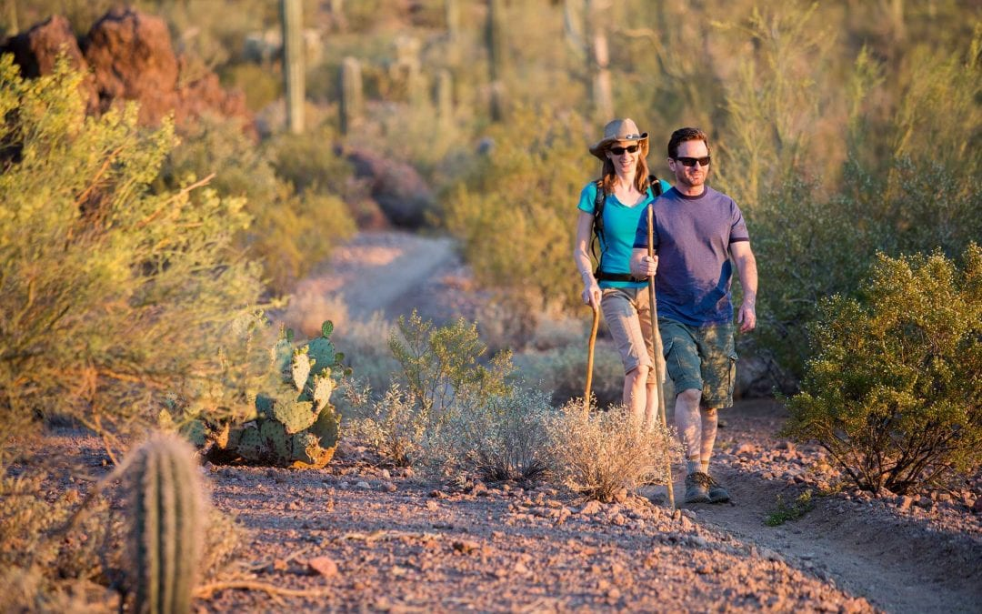 Drug Rehab in Arizona two people hiking